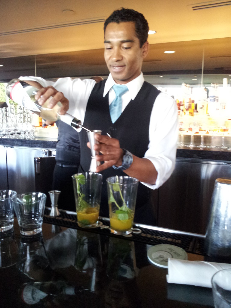 Master Mixologist Robert Porter crafts a Pepper Smash #2