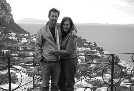 David and Tiffany in Capri, Italy