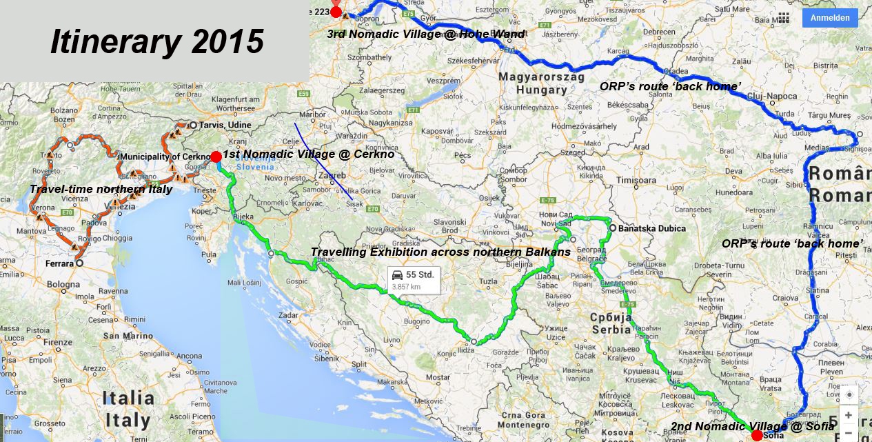 Call For Traveling Art Proposals Nomadic Village MayAug In - Clear map of italy