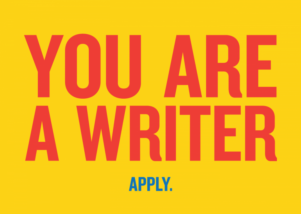 you are a writer apply