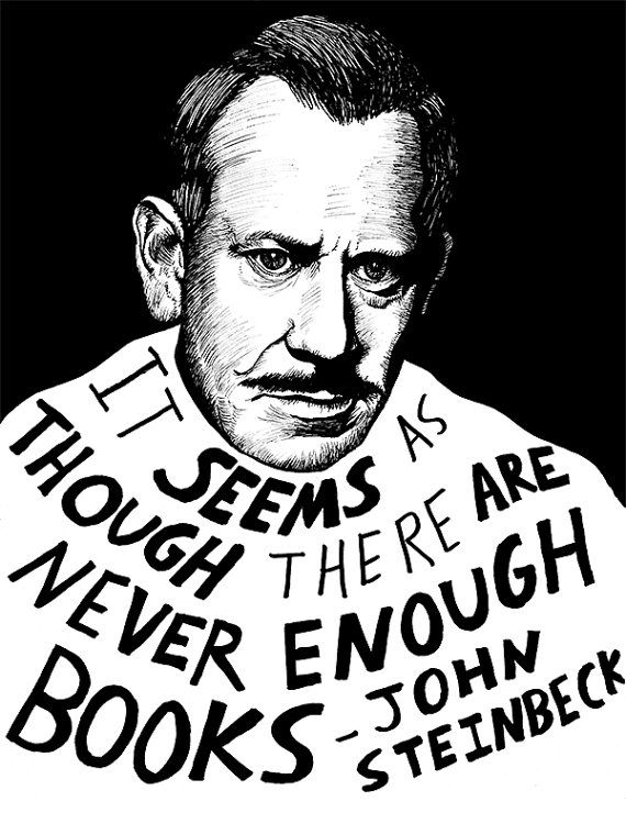 never enough books steinbeck by Ryan Sheffield