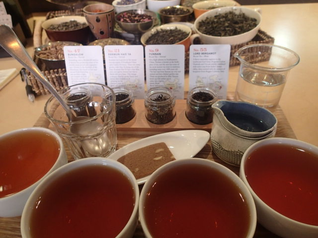 Black Tea flight tasting at Smith Teamaker