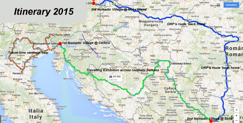 Map Of Northern Italy And Austria.Call For Traveling Art Proposals Nomadic Village May Aug 2015 In